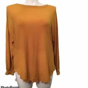 Free People Untamed Gold Open Back Tunic